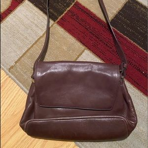 Brown leather Liz Claiborne bag